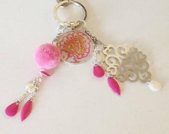 Handbag style pink baroque