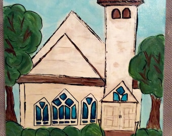 Original Country Church Painting