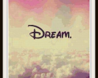 Disney Dream Cross Stitch - Dream Cross Stitch, Disney Cross Stitch - PDF Download
