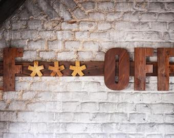 Fuck off wooden sign, handmade - décoration murale Fuck Off en bois - wall decoration