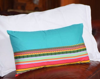 Cuddle Cushion, Teal, Aztec Print, Pillow, Kids Room, Travel Pillow, Cushion, Bedroom, nursery, cot  babyshower, gift