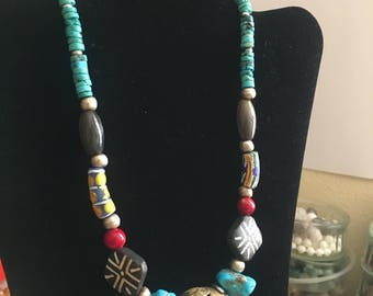 Beautiful Necklace Using Multiple Vintage Beads Designed by Shop Owner
