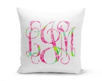Monogrammed Initial Pillow, Monogrammed Pillow, Personalized Pillow, Custom Wedding Pillow, Pillow Cover, Pillow