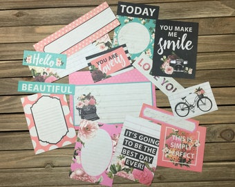 Journal/Project Life inspired Cards, 14 cards scrap booking memory keeping bullet journal travelers notebook