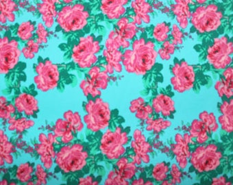 Floral Print Lycra/Spandex 4 way stretch Matt Finish Fabric