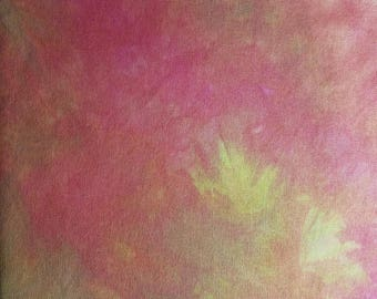 """28 Count Lugana, Hand Dyed, Pinks and Greens 29"""" X 16"""""""