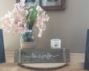 FAMILY name sign/ reclaimed wood sign/ house warming gift/ bridal shower wood sign/ wedding wood sign