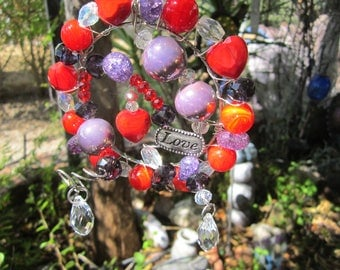 Hearts of Red With Love - Sun Catcher- #55