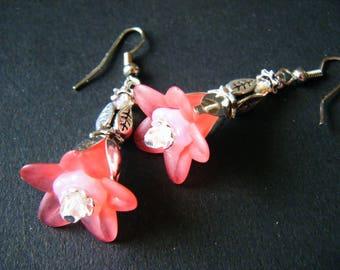 Pink bells earrings