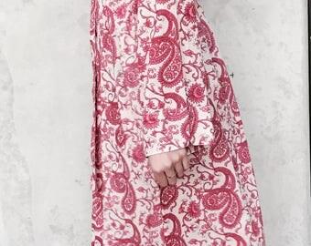 Kiyomi Pink Paisley Print Kimono Robe Dressing Gown
