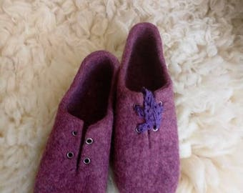 Boots.EcowoolBoots.WomenShoes.Shoes.Felted shoes.Felted wool shoes women.Organic eco fashion women shoes.Woolen shoes.Felt boots outdoors
