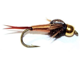 Copper John Nymph Fly - Trout and Panfish Fly Fishing Flies - Hook Size 14 - Hand Tied Trout Flies