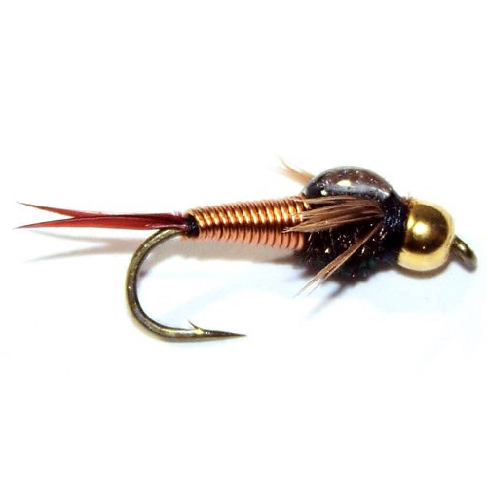 Copper john nymph fly trout and panfish fly fishing for Fishing hook sizes for trout