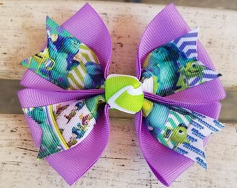 Monsters INC Hair Bow (4 inch)