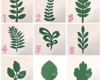 Paper flower vines  / Paper flower leaves / Paper Leaves