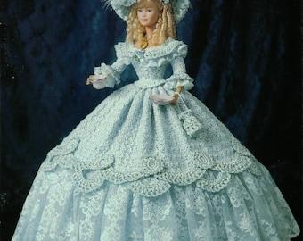 386. Barbie fashion doll dress-crochet pattern in pdf