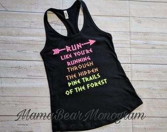 Princess tank top, Disney princess run half marathon tank top, Pocahontas shirt, Pocahontas tank top, princess workout tank, Disney Tank Top