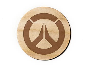 Overwatch Engraved Birch Coasters