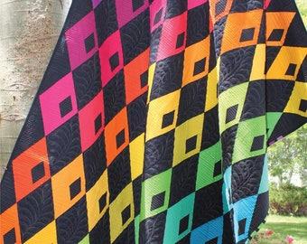 Diamond Detour Quilt Pattern by Sassafras Lane,  Modern Quilt Pattern,  Fun Quilt Pattern, Diamond Pattern