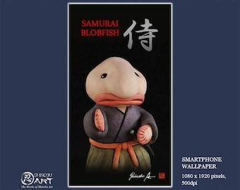 Smartphone Wallpaper, Bushido Ceramic Samurai Blobfish
