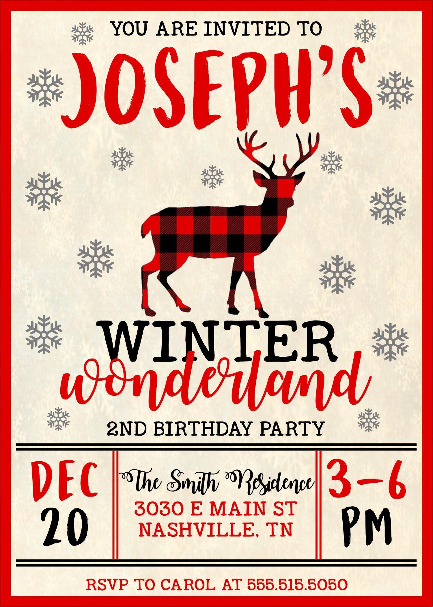 Deer Birthday Invitations Choice Image - Invitation Templates Free ...