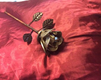 Rose / Steam Punk / Recycled Metal Flower / Wedding Gift / Valentines Day / Anniversary / Garden Art / Yard Art