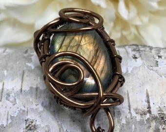 Breathe--- Labradorite Wrap Necklace