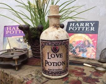 Harry Potter Love Potion. Love Potion Bottle. Harry Potter Gift. Harry Potter Magic Potion. Amortentia. Harry Potter Decor. Potion Bottle.
