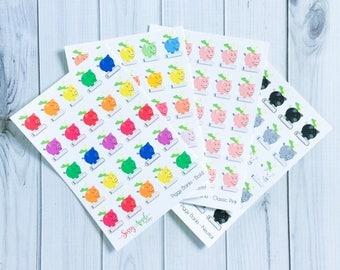 Piggy Bank Stickers - Savings Reminder Stickers - Money Stickers