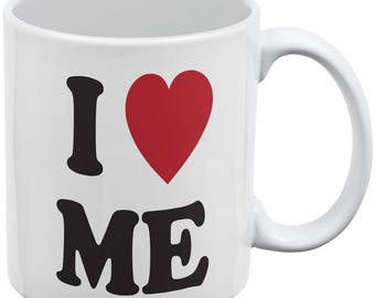 I Heart Me White All Over Coffee Mug