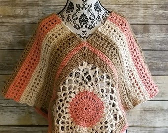 Crochet 2way poncho