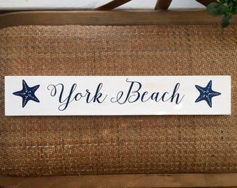 York Beach, Maine - Handpainted sign