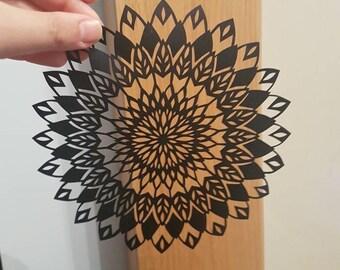 Sunflower Mandala Papercut Gift Present Wall art framed wall decor