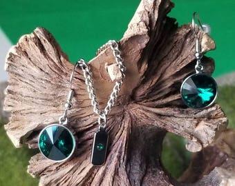 MAY Swarovski Healing  Emerald Birthstone