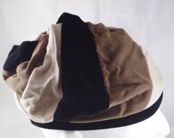 Vintage soft women's hat Hip Hop retro funky Black and Browns