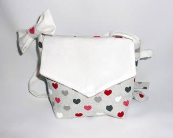 Bag girl with hair bow clip