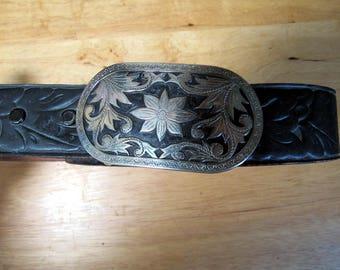 1980s Rockmount Ranch Wear Belt with Silver buckle