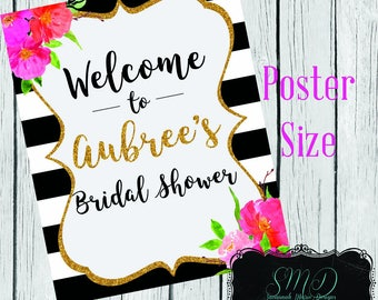 Kate Spade inspired Welcome Sign Poster Size (DIGITAL DOWNLOAD ONLY)