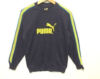 Puma Big Logo Arm Stripes Crewneck Sweatshirt