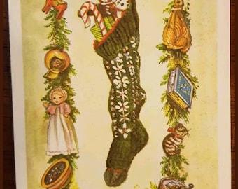 Vintage Tasha Tudor Christmas Greeting Card