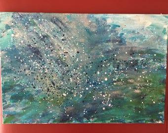 "Abstract Acrylic Painting ""Ocean II"", 40x60 cm"