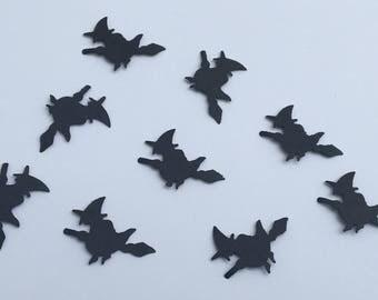 200 Witch Confetti Black Witch Confetti Halloween Confetti Birthday Confetti Holiday Confetti Halloween Party Decor