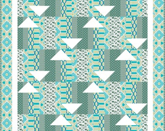 Q197 Directions Quilt pattern in 2 sizes