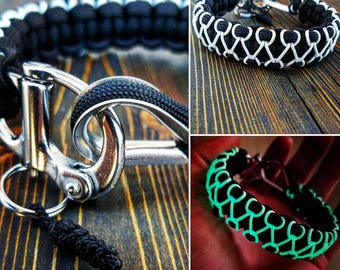 """Paracord """"Herringbone Stitched"""" Survival Band"""