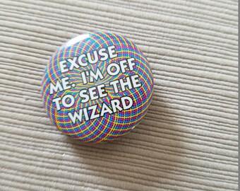 Oz novelty metal button