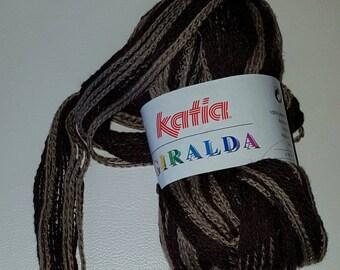 Ball of yarn KATIA GIRALDA No. 54 (dark brown/light brown) 100 g