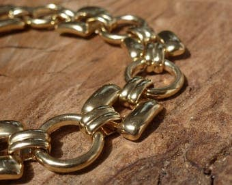 Statement Gold Plated Chain Bracelet