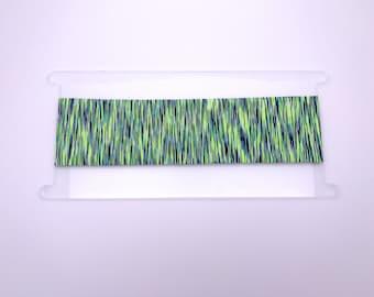 """Less Wide (2 1/4"""") Green & Navy Blue Heathered Headband - Yoga Headband - Women's Headband"""