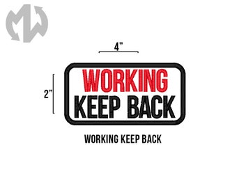 """WORKING KEEP BACK 2"""" x 4"""" Service Dog Patch"""