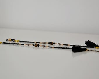 BLACK PADANGPADANG shadeloops // eyeglass chain, eyeglass holder, eyeglass leash, correntedeoculos, glasses chain, brillenkette, sunnycords